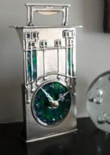 Archibald Knox No' 46 Enamelled Pewter Clock